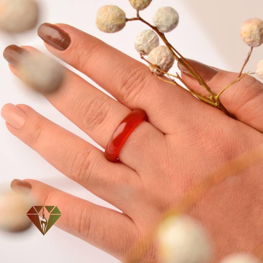انگشتر عقیق زنانه رینگی