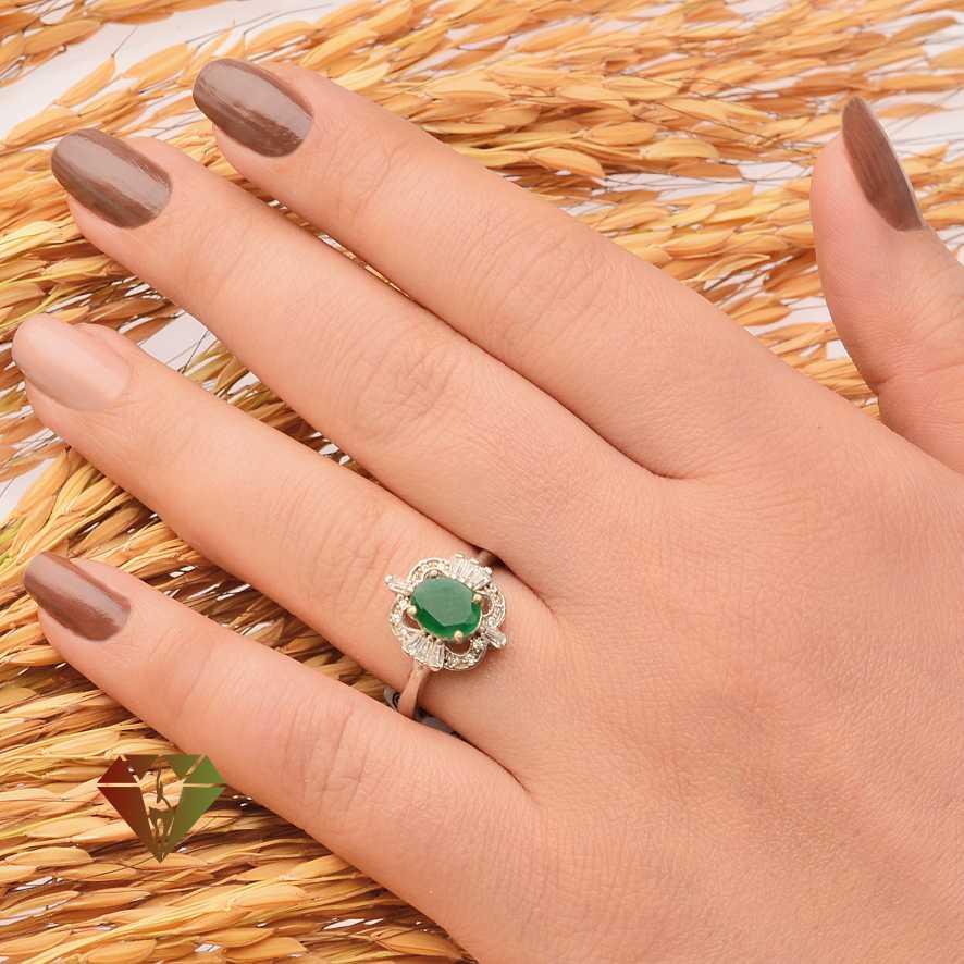 انگشتر زنانه عقیق طرح زحل