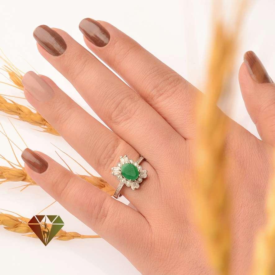 انگشتر زنانه عقیق طرح مشتری