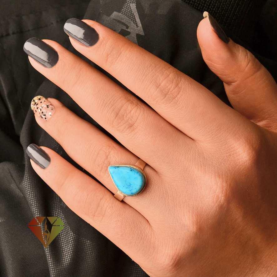 انگشتر زنانه فیروزه طرح پدرام