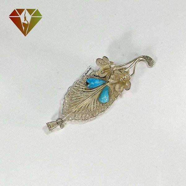 مدال نقره ملیلهکاری فیروزه