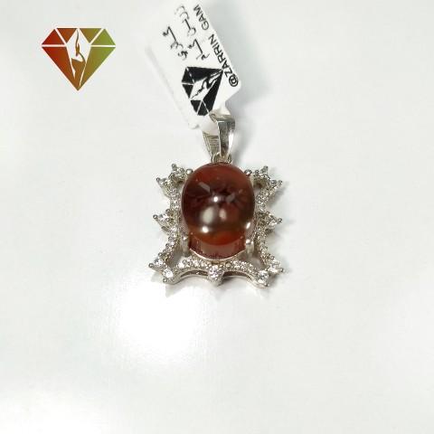 مدال نقره عقیق