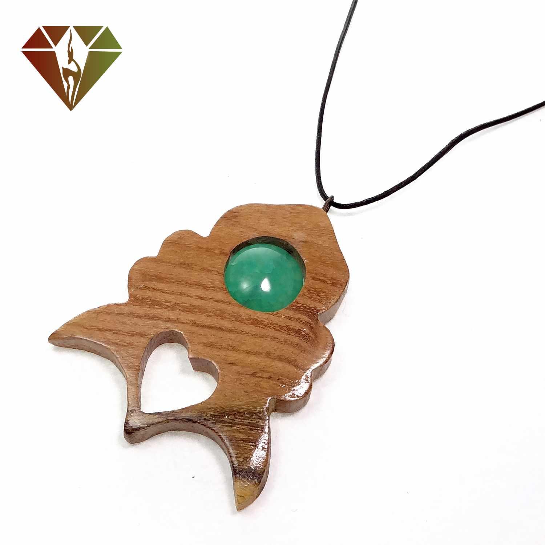 رومانتویی عقیق سبز چوبینه گوهر