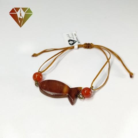 دستبند چوبی عقیق