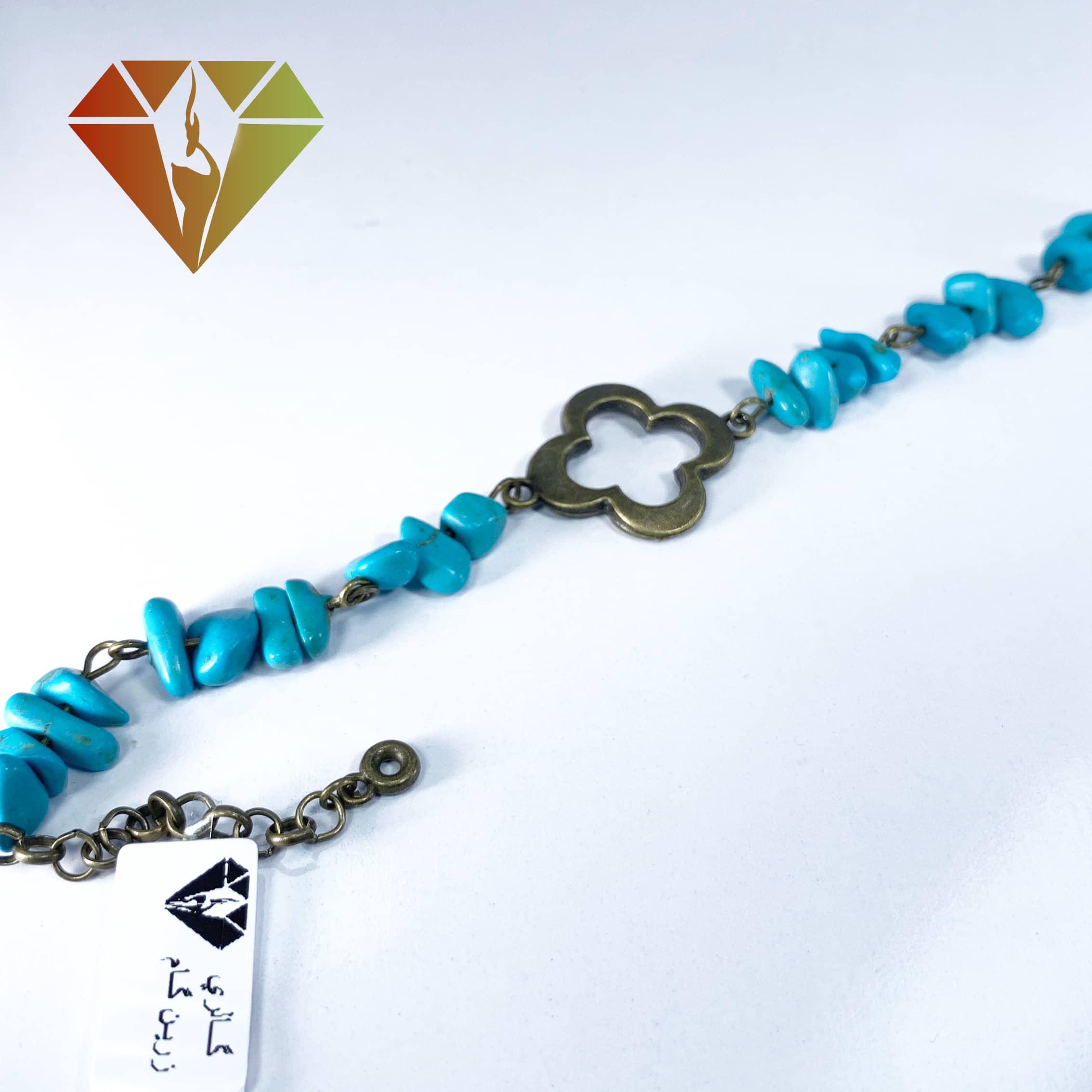 دستبند فیروزه تبتی