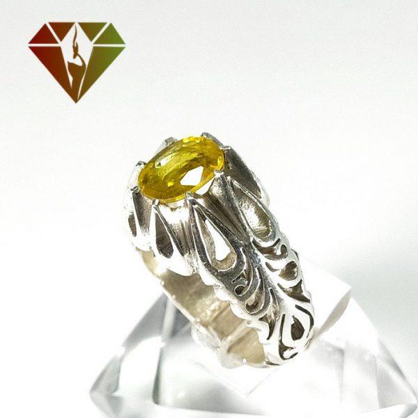 انگشتر مردانه یاقوت زرد