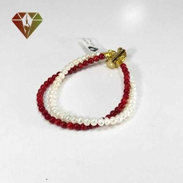 دستبند مروارید و مرجان